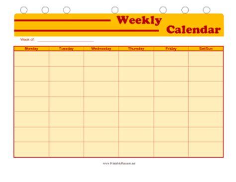 printable weekly student calendar student planner weekly calendar
