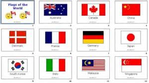 Coffee Cup Decor Diy Flashcards 17 Flags Of The World
