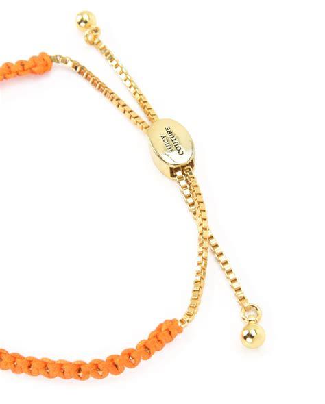 Macrame Bracelets - couture macrame bracelet in orange lyst