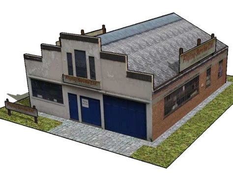 pickup some creativity house diorama tutorial bellingdon road chesham factory free building paper model