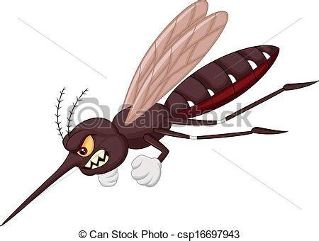 eps vector de enojado mosquito caricatura vector