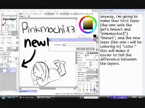 paint tool sai how to move layers easy paint tool sai tutorial layers 1 3