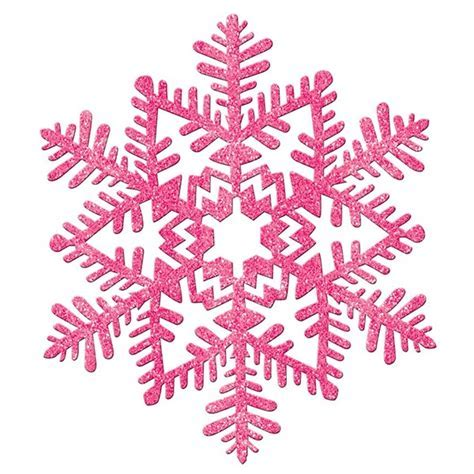 Large Glitter Pink Snowflake