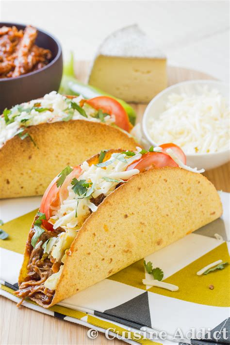 cuisine addicte pulled pork cheese tacos cuisine addict