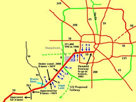 houston freeway map texasfreeway gt houston gt photo gallery gt us 59 gt the