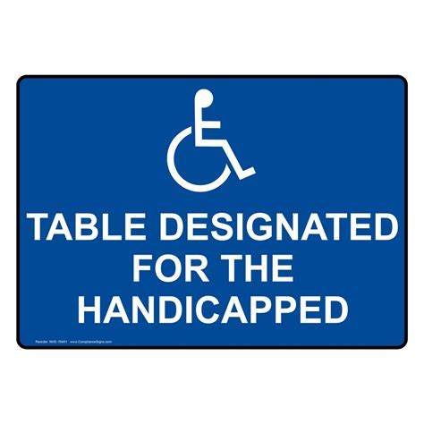 Table Sign Signage Meja free printable wheelchair accessible sign just b cause