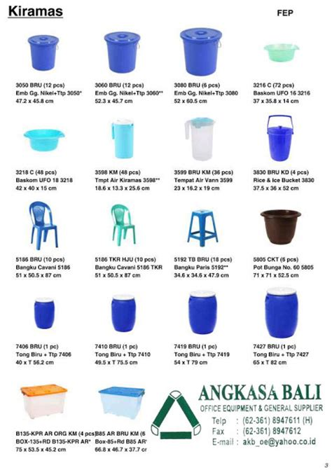 Jual Ember Plastik Hitam by Angkasa Bali Furniture Distributor Kursi Meja Kantor Bali