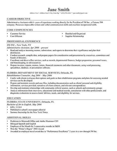 career objective for experienced it professional student and internship resume exles career objective