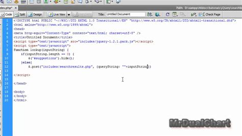 html tutorial search box jquery php search box tutorial part 1 youtube