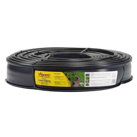 vigoro 60 ft lawn edging 720 in x 5 in x 4 5 in black