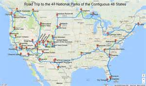 a road trip to all of the national parks in the lower 48