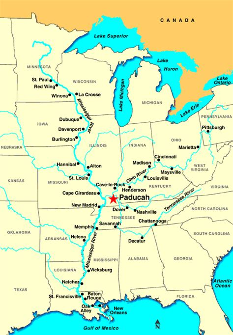 kentucky map paducah paducah ky discount cruises last minute cruises