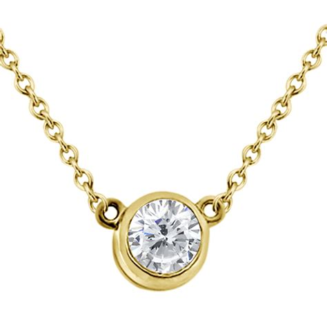 bezel set solitaire pendant setting in 14k yellow gold