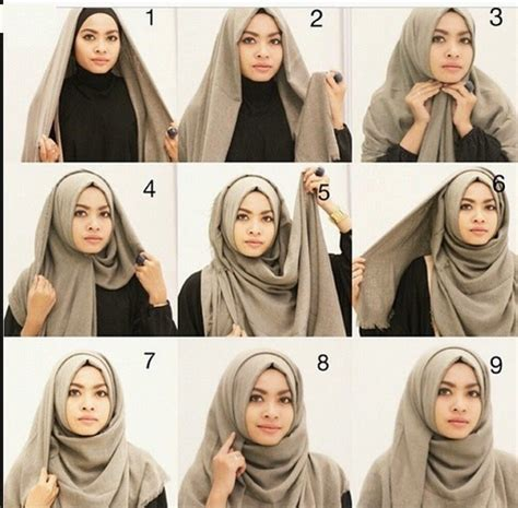 simple hijab tutorial style for beginners scarf styles step by step