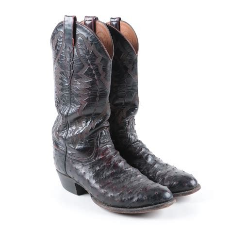 Sea Quill Mens New 60 s lucchese 2000 quill ostrich leather western boots ebth