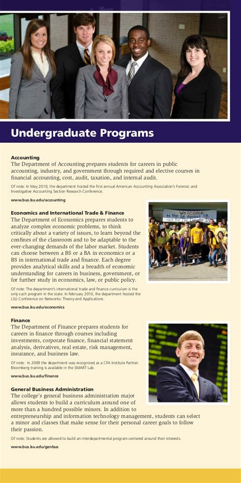 Lsu Mba Program Requirements by The Lsu E J Ourso College Of Business School Overview
