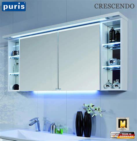 spiegelschrank puris puris crescendo led spiegelschrank 140 cm s2a431426r