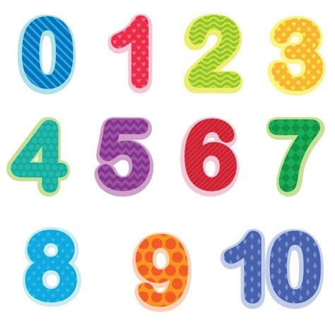 Number Stickers preschool number wall decals 0 10 baby and toddler number