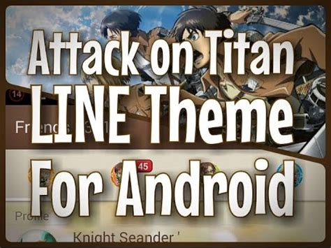 theme line titan android line themes attack on titan free download for android