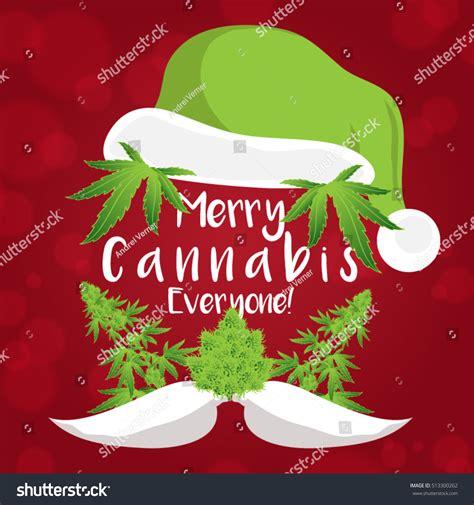 nm marijuana card template merry cannabis marijuana plant santa stock