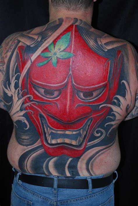 hannya mask tattoo back piece hannya mask back piece by mr jones tattoonow