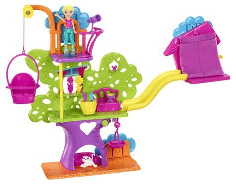 polly pocket house polly pocket wall party treehouse amazon co uk toys games