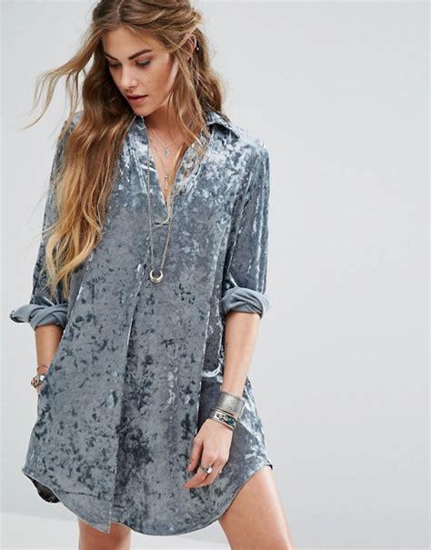Aikbasic Velvet Channel glamorous glamorous relaxed dress in crushed velvet