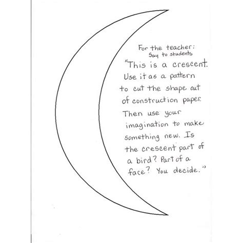 Crescent Shape Worksheets For Preschoolers by Preschool Activities Studying Shapes All About Crescents