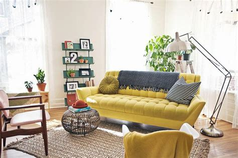 mustard living room accessories gorgeous home decor with exposed walls