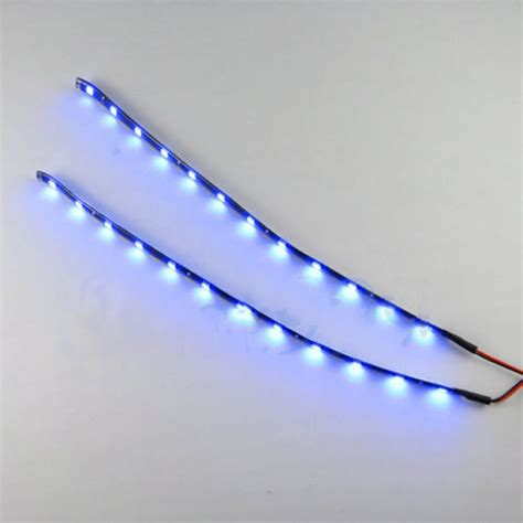 automotive led light strips 12v waterproof 2pc 12 leds 30cm 5050 smd led strip light