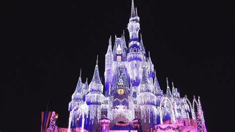 cinderella castle christmas lighting dream lights