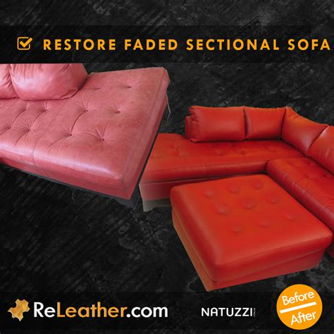restore faded leather sofa releather before and after gallery couches sofa sets