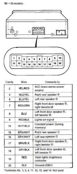 oem radio harness diagram honda tech honda forum