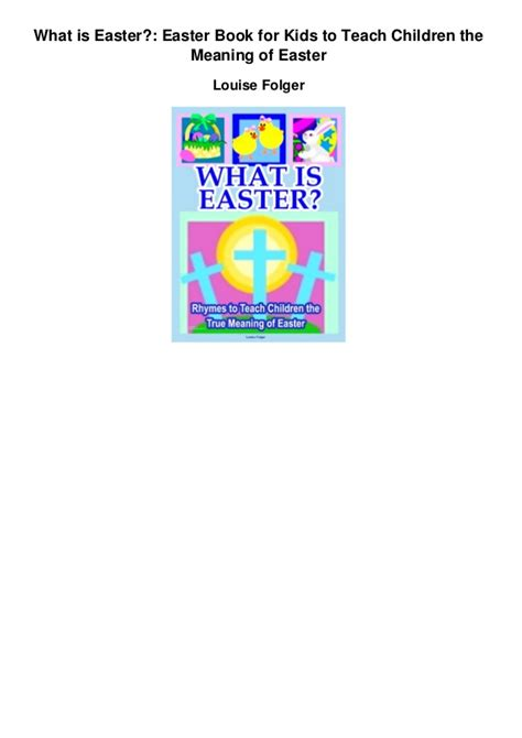 what is significance of easter what is easter easter book for to teach children the
