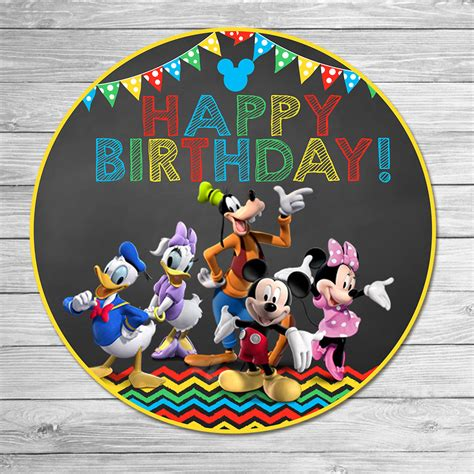 happy birthday mickey mouse design mickey mouse clubhouse happy birthday by itsacowsopinion