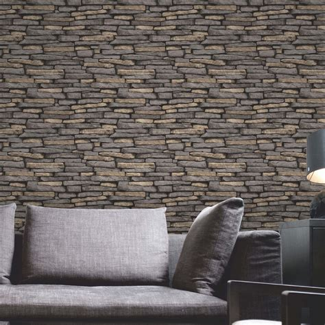 wallpaper for walls slate stone wall effect wallpapers modern feature wall