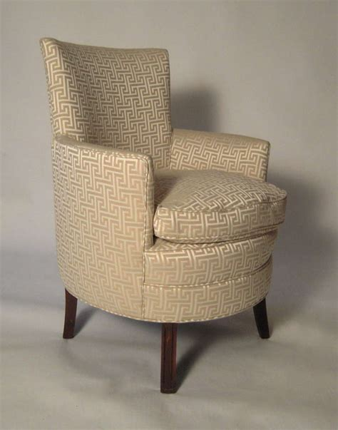 Small Upholstered Chair Sale Stylish Small Curved Upholstered Slipper Chair At 1stdibs