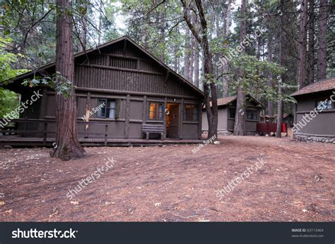 Yosemite Cing Cabins Curry by Wooden Cabin In The Woods With Scratches On A Beam