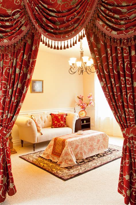 red swag curtains louis xvi royal red swag valances curtain drapes
