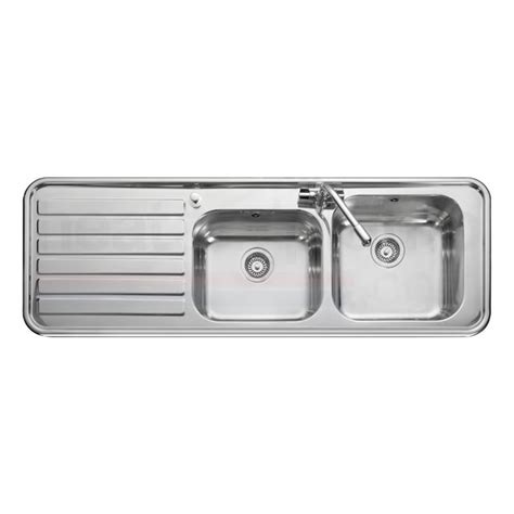 leisure kitchen sinks leisure luxe lx155 2 0 bowl stainless steel inset kitchen sink