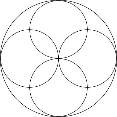 circular rosette with 4 petals clipart etc
