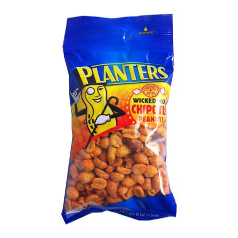 planters chipotle peanuts 12ct nuts seeds snacks
