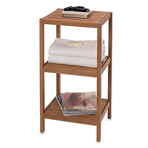 Buy Bathroom Shelves Buy Creative Bath Ecostyles 3 Shelf Bamboo Tower From Bed Bath Beyond