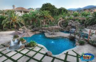 orange swimming pool and landscape design splash pools