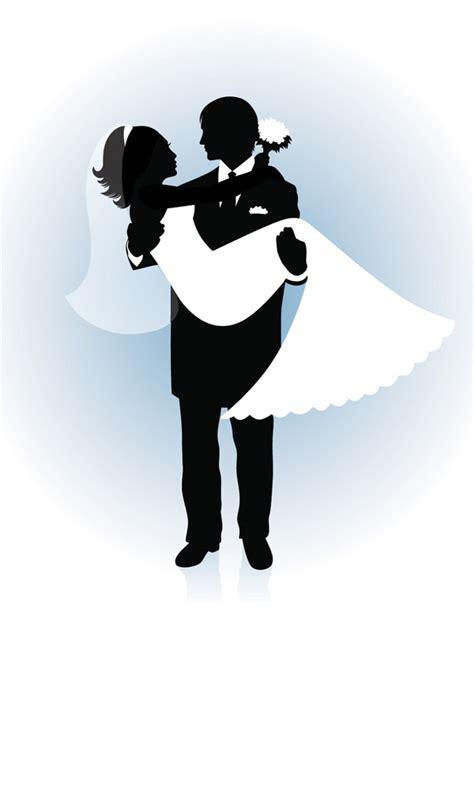 people wedding silhouette   eps   vector