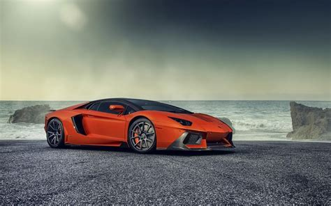 orange sports cars wallpaper orange lamborghini sports cars seaside