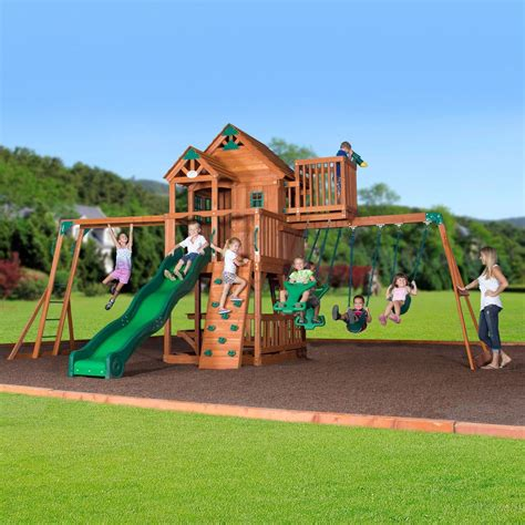 choosing playground sets for backyards webnuggetz