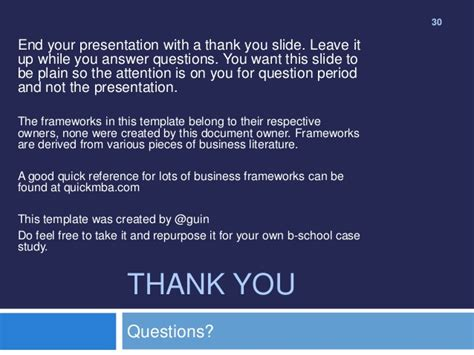Mba Presentation Template by Mba Study Presentation Template