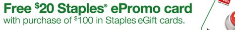 Cashstar Gift Card - buy a 100 staples gift card get a 20 epromo card for free frequent miler