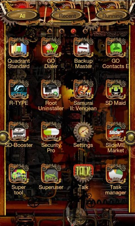 steunk go launcher ex theme android apps on play